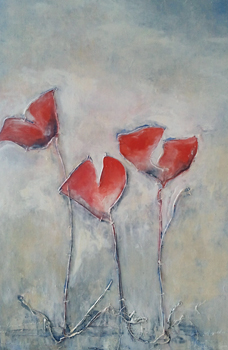 Poppies, copyright Hela Donela, plese respect artist rights