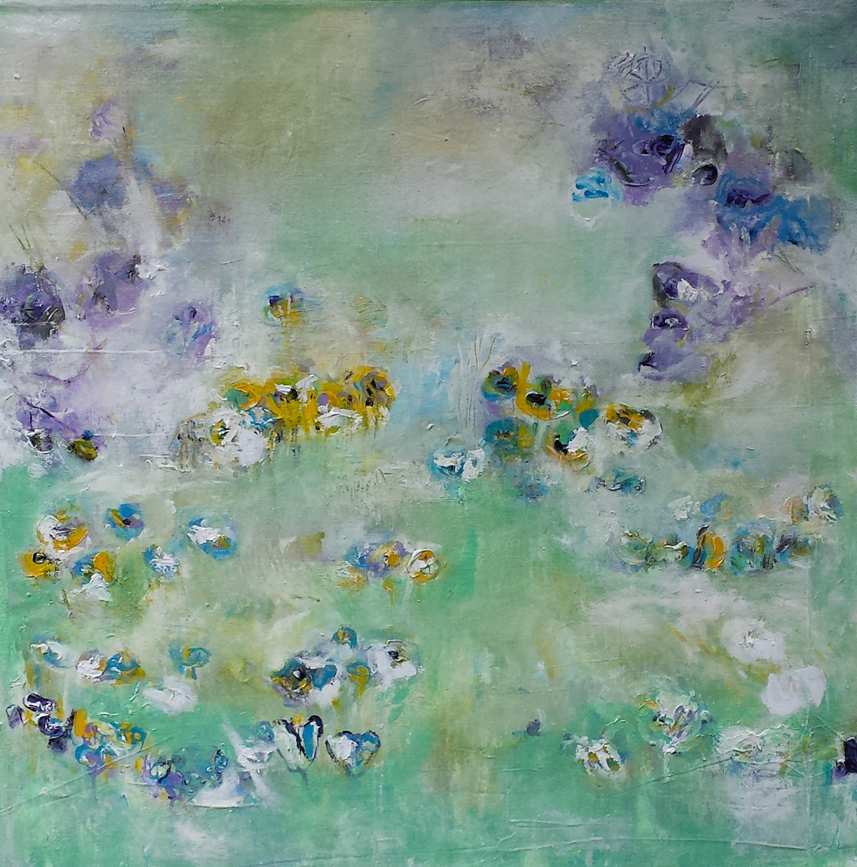 Painting by Hela Donela: A Garden For Dreamingg