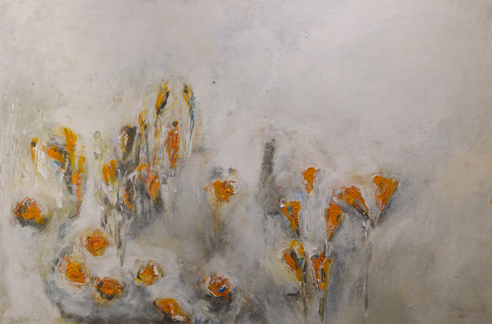 FIrst Flowers of Spring - painting by Hela Donela