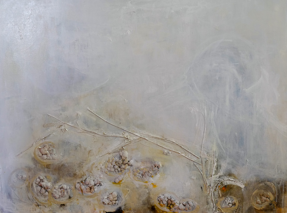 wail of the magpie - broken dreams, painting by hela donela