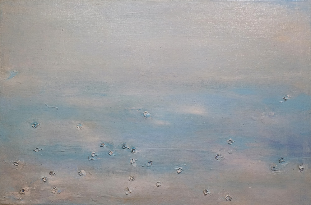 Diamond Rain, painting by Hela Donela