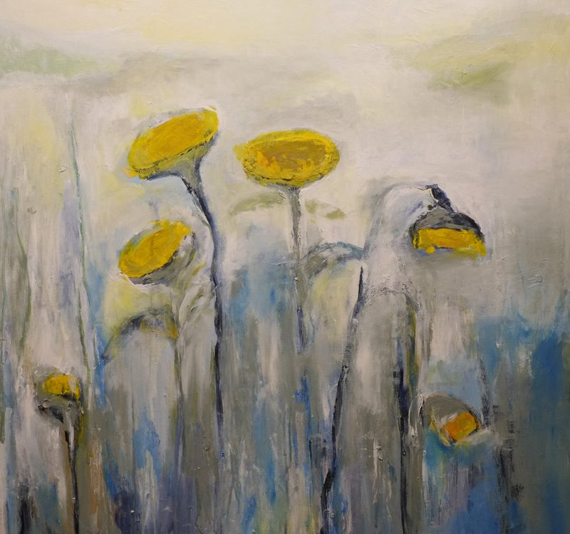 bloom, original painting by hela donela