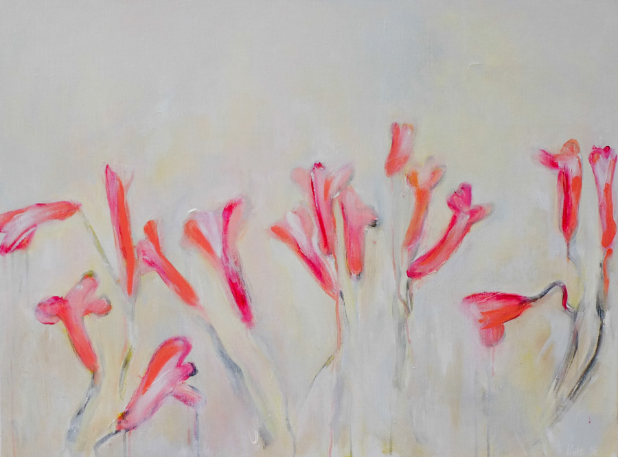 freesias, painting by hela donela