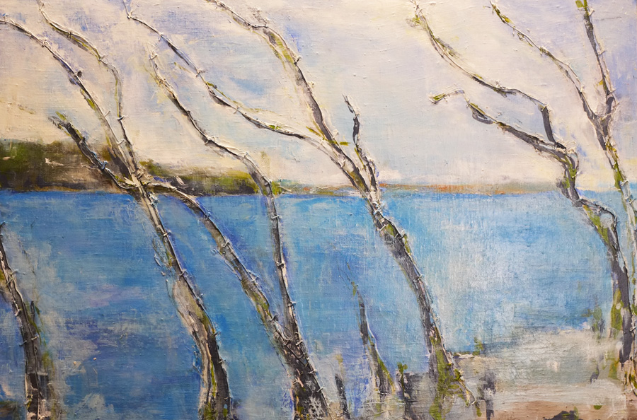 south coast trees, original painting by hela donela
