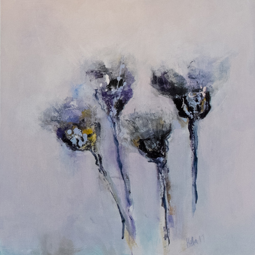 thistles a paiting by hela donela emerging south coast artist