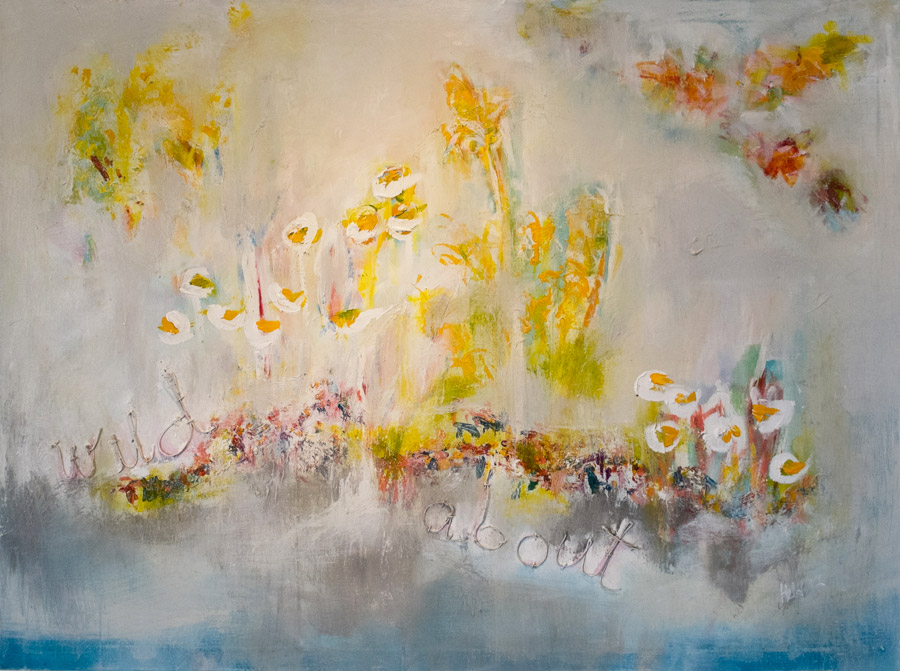wild about flowers original painting by hela donela